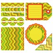 Easter set of stripe design elements — Stock Vector