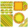 Easter set of stripe design elements — Stock Vector #2618990
