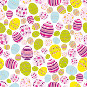 Seamless easter eggs background — Stock Vector