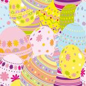 无缝的复活节蛋背景 — 图库矢量图片