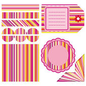 Easter set of stripe design elements — Cтоковый вектор