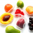Bright fruit candies — Stock Photo