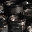 Photo camera lenses. - Foto Stock