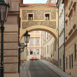 Narrow streets of an old city. — Stock Photo
