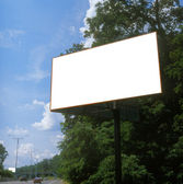 Blank billboard. — Stock Photo