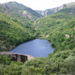 Stock Photo: Frankreich Languedoc Olargues Stausee