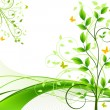 Royalty-Free Stock Imagen vectorial: Floral abstract background