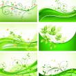 Royalty-Free Stock Vectorielle: Abstract floral background set