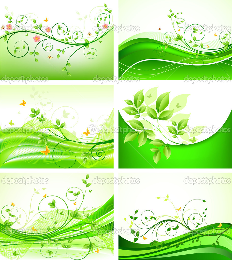 Abstract floral background set — Stock Vector #2342169