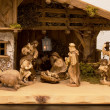 Nativity scene Christmas night — Stock Photo