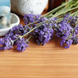 Lavender herb and bath — Stock Photo