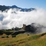 el Santuario de nuestra señora de la salette en Alpes franceses — Foto de Stock