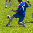 Stock Photo: Football player in action