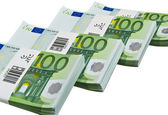 Euro banknotes isolated on white — Stock Photo