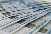 One thousand rouble banknotes — Стоковое фото