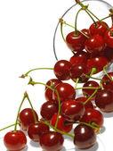 Berry of cherry and vase. — Stock Photo