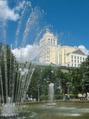 Voronezh. Fountain in Kolcovsky square. — Stock Photo