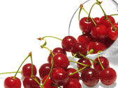 Fresh red berries of cherry — Stock Photo