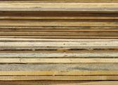 Boards. Warehouse of saw-timbers. — Stock Photo