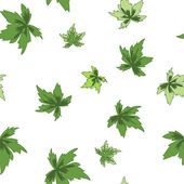Folhas verdes. figura sem emenda. — Vetor de Stock
