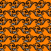 Black pattern on an orange background. — Stock Vector