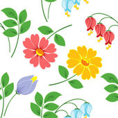 Flowers on white background. — Stock Vector