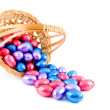 Royalty-Free Stock Photo: Woven basket with easter eggs
