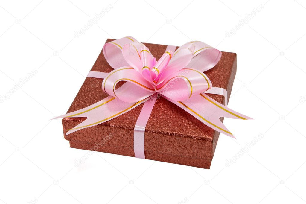 Wrapped gift isolated on white — Stock Photo #2484224