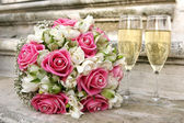 Wedding bunch of flowers — Stock Photo