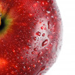 Red apple covered with drops of water — Stok fotoğraf