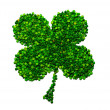 Four-leaf lucky clover made of peas - Zdjęcie stockowe