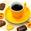 Cup of coffee and cookies — Stock Photo #2299860