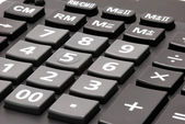Keyboard of calculator close-up — Stock Photo