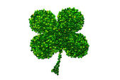 Four-leaf lucky clover made of peas — Стоковое фото