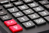 Close up calculator buttons — 图库照片