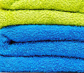 Pile of towels closeup — Stock Photo