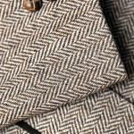 Sleeve of tweed brown jacket — Stock Photo