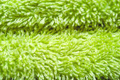 Close-up of green towel — Foto de Stock
