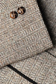 Sleeve of tweed brown jacket — Foto de Stock