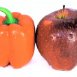 Red apple and red pepper — Stock Photo #2324410