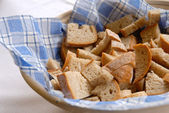 Sliced fresh bread on the table — Stock Photo