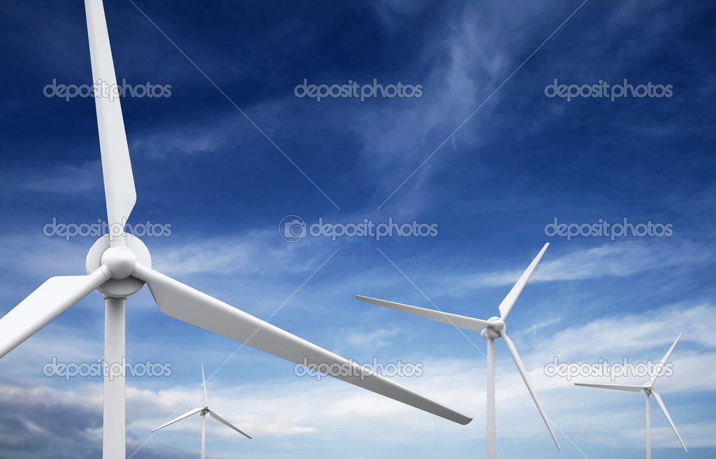 Wind farm: Industrial Eolic installation  Stock Photo #2456989