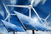 Ren energi kraftverk — Stockfoto