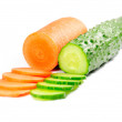 Royalty-Free Stock Photo: Cucumber and carrot