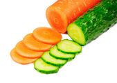 Cucumber and carrot — Stock Photo