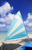 Boat at beach — Stock Photo