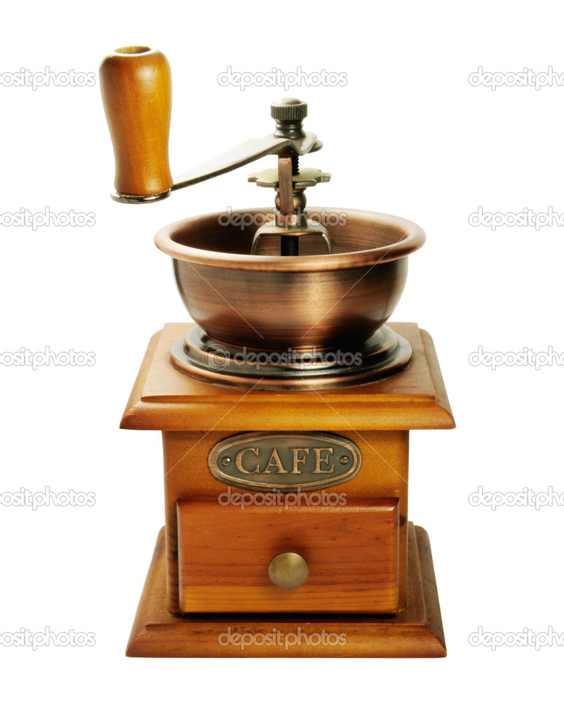 Picture of isolated coffee grinder with white background. — Stock Photo #2362989