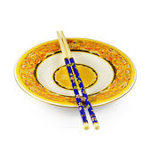Chopstick and plate — Stock Photo