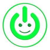 Power button — Stock Photo