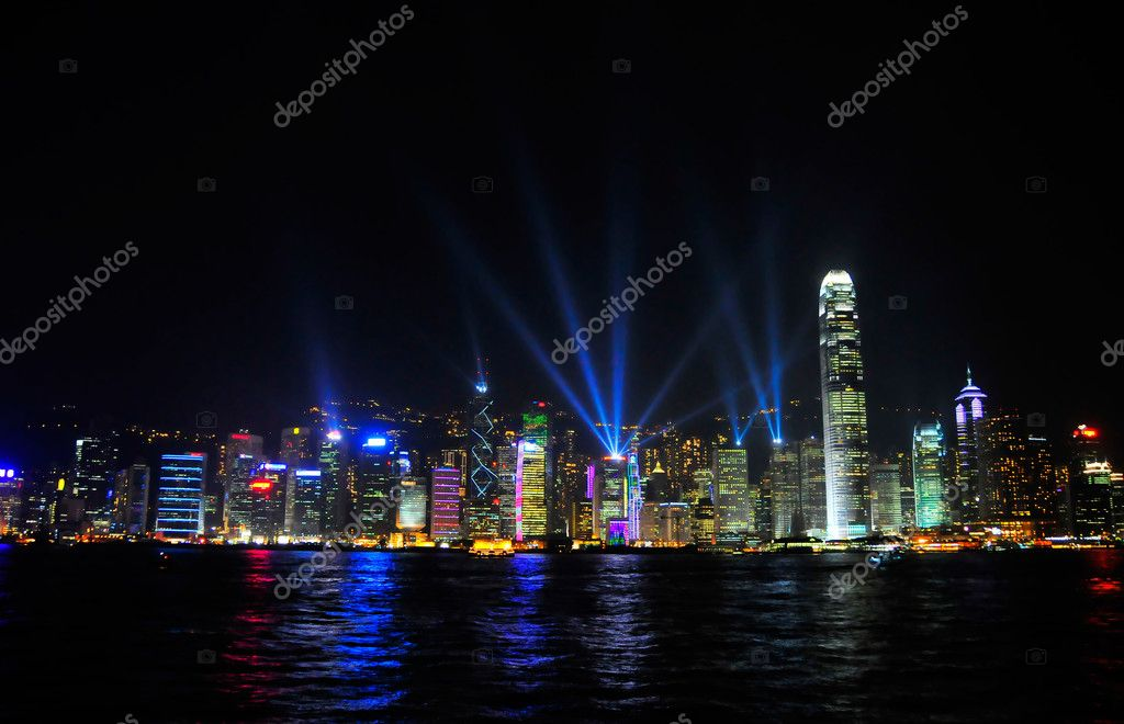 The nigh view of Hongkong   Stock Photo #2402766